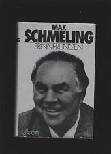 Max Schmeling, Erinnerungen, Boxer Legende  Leinen geb. Ausgabe 1977