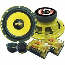 Pyle 6.5'' 400W 2-Way Mid-Bass Component Speaker System Pair Speakers DJ Car-Aud