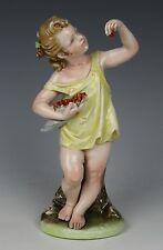 "Capodimonte Bruno Merli Figurine ""Girl Eating Berries"" MINT WorldWide"