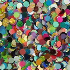 6mm No Hole Sequin Mix Assorted Colors and Finishes Made in USA