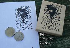 P91 Fairy silhouette rubber stamp