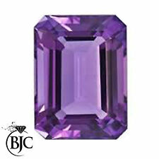 Emerald Shaped Transparent Loose Amethysts
