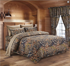 Natural The Woods Woodland Camo Full-Queen Comforter-Free Ship