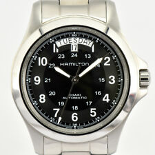 Auth Hamilton Khaki King Day&Date H644550 Automatic Men's Watch j#74561