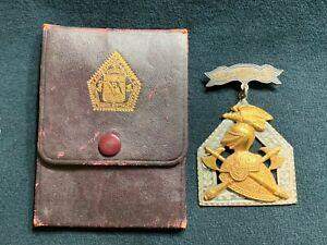 Antique Knights of Pythias Presentation Medal Case 1932 Masonic Herculaneum MO