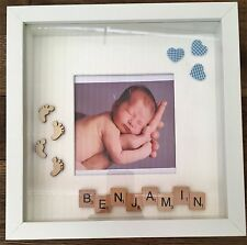 *BABY SHOWER* *NEW BABY* HANDMADE PERSONALISED SCRABBLE TILES/ART PHOTO FRAMES