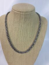 Beautiful Sterling Silver 925 Woven Chain necklace