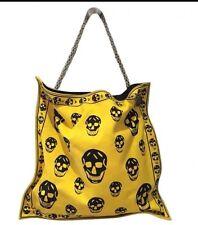 Alexander McQueen Yellow Canvas Tote Bag