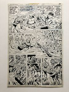 Don Heck Original Comic Art Page Aquaman Adventure Comics #462 Published in 1979