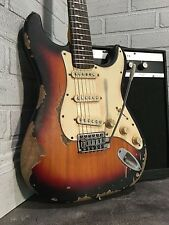 Relic Vintage 60's Strat Style Electric Guitar with Alnico V Pickups Aged Worn