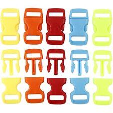 Cliquez sur les fermoirs Mini attaches en plastique bijoux Bracelet paracorde sac 5 couleurs