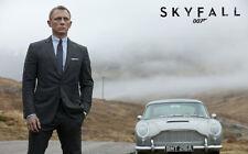 "JAMES BOND 007 SKYFALL ASTON MARTIN A1 CANVAS PRINT POSTER FRAMED 33.1"" x 21.4"""