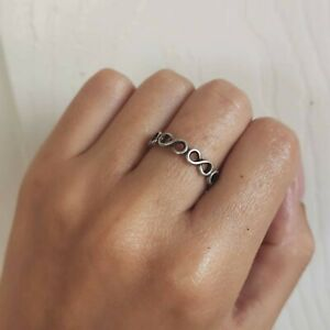 Sterling Silver Hallmarked Eternity Ring Size L Womens Mens