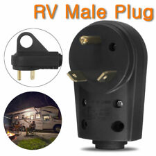 30Amp 125V RV Male Plug Replacement Power Cord Plug Adapter Caravan Motorhome