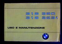 BMW Serie 3 E21 316 - 318 - 320 - 323i libretto originale uso e manutenzione