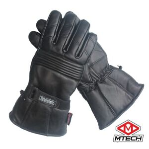 MTECH Motorcycle Full Leather Warm Winter Gloves Bike Warm Water Proof Gloves