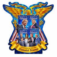 Djibouti 2016 MNH Donald Trump US Presidents Melania Mike Pence 4v M/S Stamps