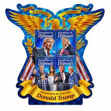 More details for djibouti donald trump stamps 2016 mnh us presidents melania mike pence 4v m/s