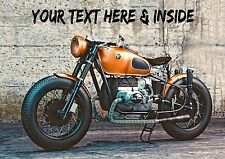Personnalisé BMW Motor Cycle Vélo Route Sport Anniversaire Toute Occasion carte + insert