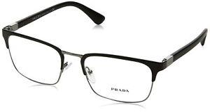 Prada PR54TV 1BO1O1 Eyeglasses Matte Black 55mm