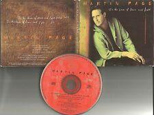 MARTIN PAGE In the house of stone EDIT PROMO DJ CD single 1995 w/ PRINTED LYRICS