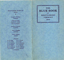 Brattleboro Vermont 1914 Blue Book General Info Statistics Points of Interest