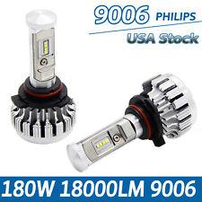 9006 180W 18000LM LED Headlight Kit Light Bulbs 6500K White High Power No Error