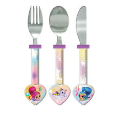 Shimmer And Shine Childrens Metal 3 Piece Cutlery Set Ideal Gift