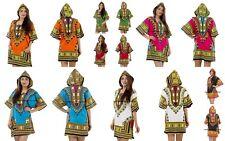 5 PC LOT Women Traditional African Print Dashiki Dress Party Tops Shirt Dress