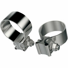 Khrome Werks Repl. Stainless Steel Muffler Clamps Harley Models 65296-95A