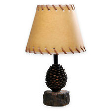 """Acorn Themed Accent Lamp - Oiled Paper Shade, 16.5"""" High, Rustic, 60"""" Cord"""