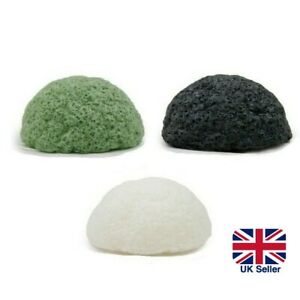 2x 100% NATURAL KONJAC Sponge Puff Face Cleaning Exfoliating Deep Clean Scrub UK