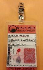 Portal ID Badge - Black Mesa Gordon Freeman  cosplay prop costume