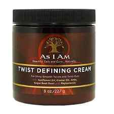AS I AM Twist Defining Cream for Shiny Smooth Twists and Twist-Outs 227g