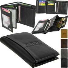 Leder Geldbörse Brieftasche Portemonnaie BAG STREET Geldbeutel WILD Geldtasche