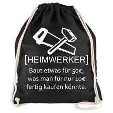 "Nukular Turnbeutel Motiv""Heimwerker"" lustig Handwerker Bastler Schrauber Bauherr"