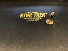 Authentic Star Trek Chess Piece Gold PAWN Franklin Mint TriDimensional 1994