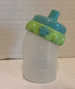 Baby Alive DOLL REPLACEMENT BOTTLE 2006 WETS & WIGGLES AUTHENTIC Blue Lid Hasbro