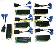 Lot of 8 pcs New OEM Dell TW212 256MB nVidia Quadro NVS 290 Video Card w/ Cables