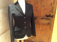 """BNWT Euro Star Jeanette Black Competition / Show Jacket  - size 40 (38"""" chest)"""