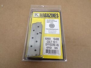 Colt 1911 Officers 6 Rd SS Magazine by Triple K #1048M