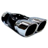 Universal Car Twin Exhaust Pipes Muffler Trim Chrome