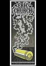 Eric Church 11/22/14 Poster Evansville In Signed & Numbered #/390 The Outsiders