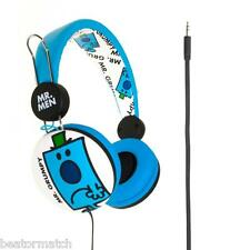 Mr Men & Little Miss Headphones Boys Girls Tangle Free Cable Great Gift - Grumpy