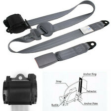 Car Seat Belts Safety Belt High Strength Adjustable Gray Nylon Strap For Car SUV