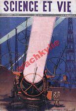 Science et vie n°338 du 11/1945 Radar Astrophysique Insecticides agriculture