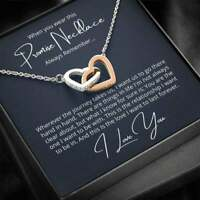 Fiance Message Card dear Fiance Women It Took A Luxury Gold-plated Heart Necklace Valentine/'s Day Gifts For Her Wifey