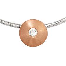 Reinheit SI Gute Echte Diamanten-Halsketten & -Anhänger aus Rotgold mit Brilliantschliff
