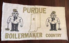 Vtg Purdue University Boilermaker Country P Indiana Throw Tapestry Blanket Rug 0