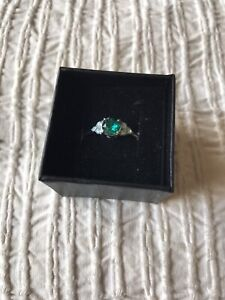Fragrant Jewels Ring From new Water Lilies Collection Sz 9 NWT emerald opal